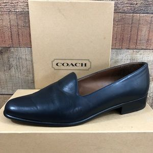 Coach navy blue slip on loafer city skimmer 8.5
